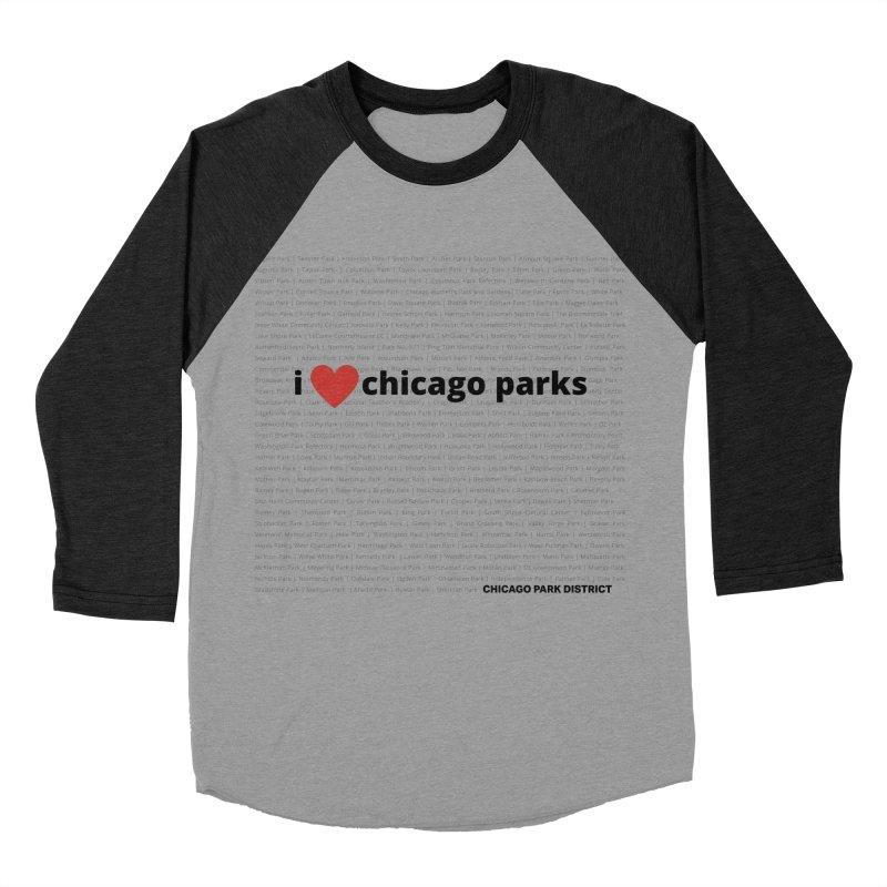 I Heart Chicago Parks Men's Baseball Triblend Longsleeve T-Shirt by chicago park district's Artist Shop
