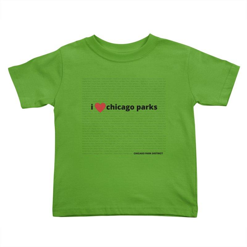 I Heart Chicago Parks Kids Toddler T-Shirt by chicago park district's Artist Shop