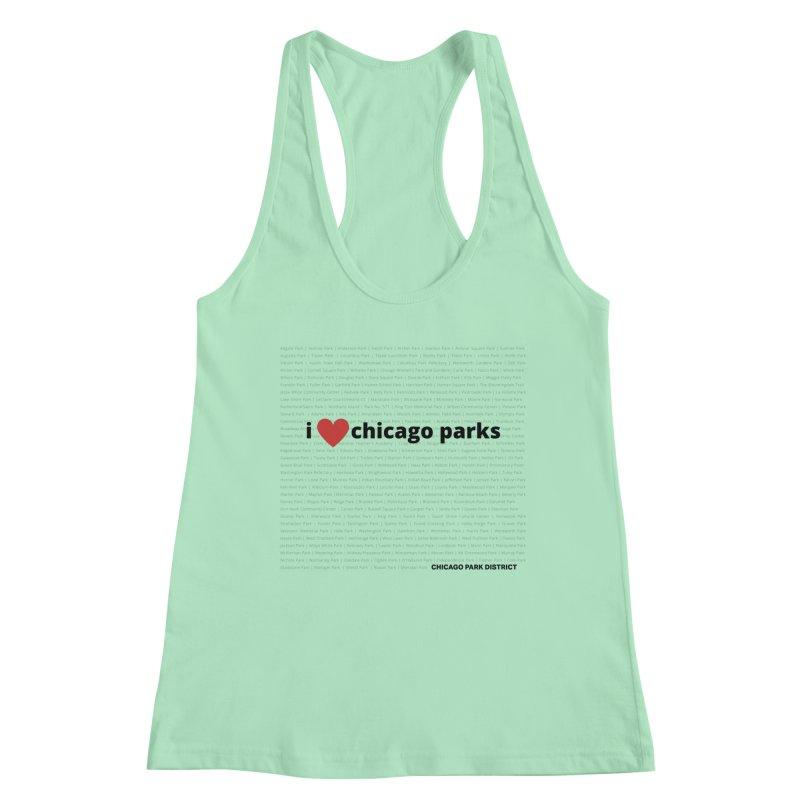 I Heart Chicago Parks Women's Racerback Tank by chicago park district's Artist Shop