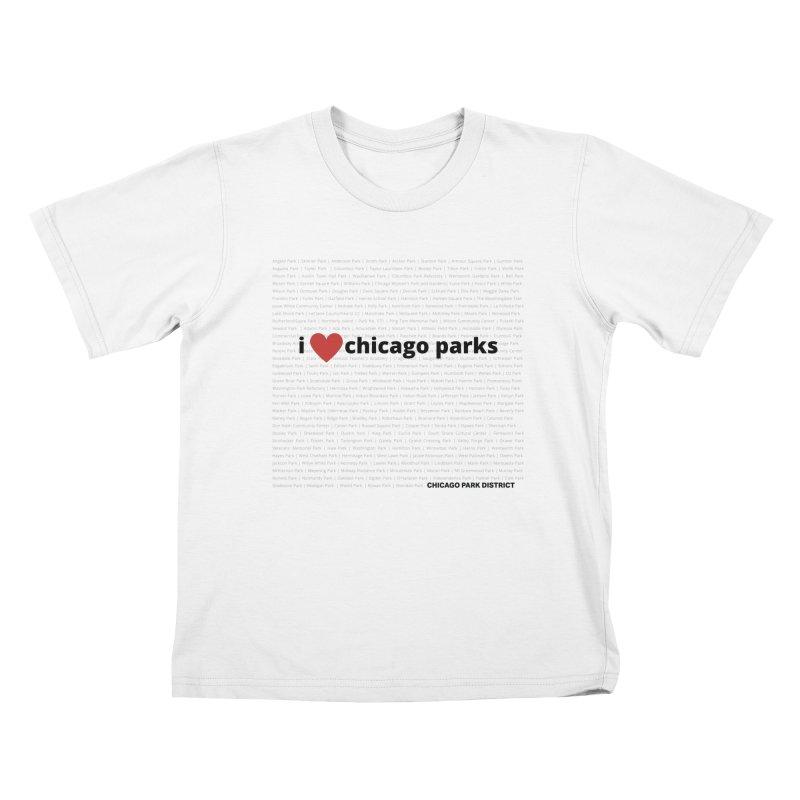 I Heart Chicago Parks Kids T-Shirt by chicago park district's Artist Shop