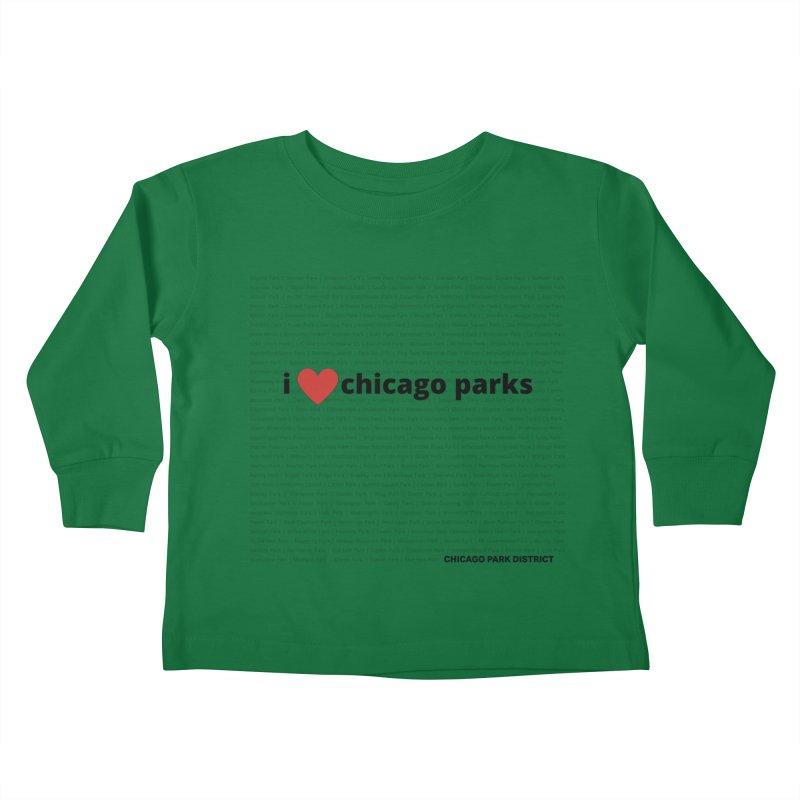 I Heart Chicago Parks Kids Toddler Longsleeve T-Shirt by chicago park district's Artist Shop