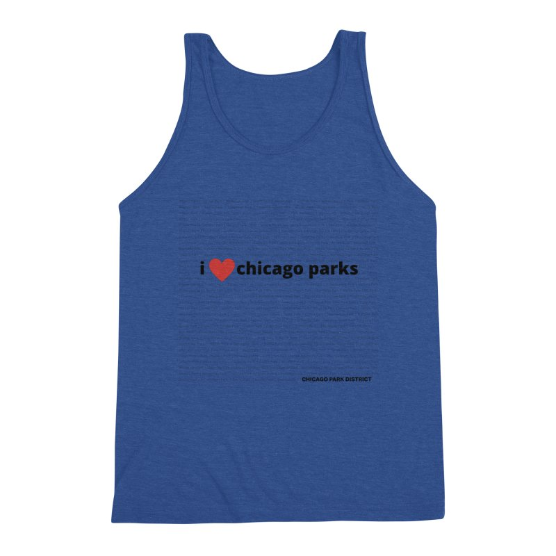 I Heart Chicago Parks Men's Triblend Tank by chicago park district's Artist Shop