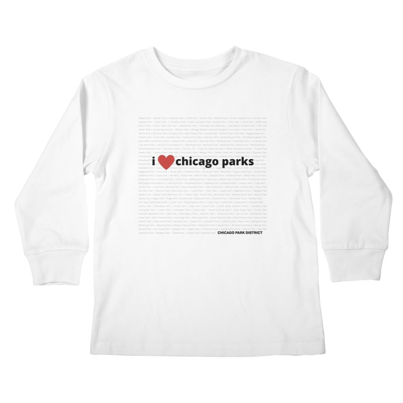 I Heart Chicago Parks Kids Longsleeve T-Shirt by chicago park district's Artist Shop