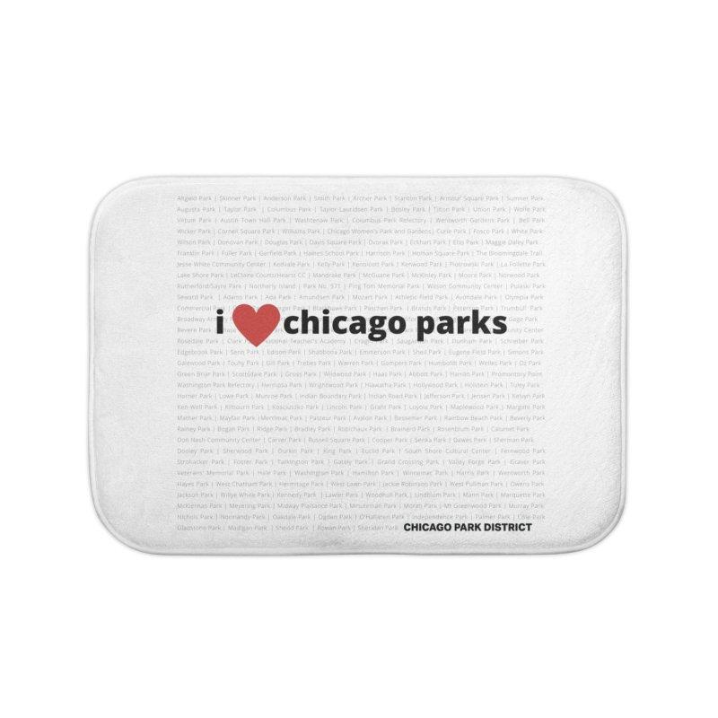 I Heart Chicago Parks Home Bath Mat by chicago park district's Artist Shop