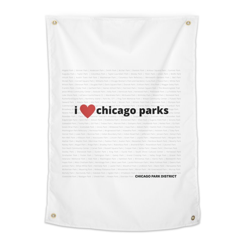 I Heart Chicago Parks Home Tapestry by chicago park district's Artist Shop