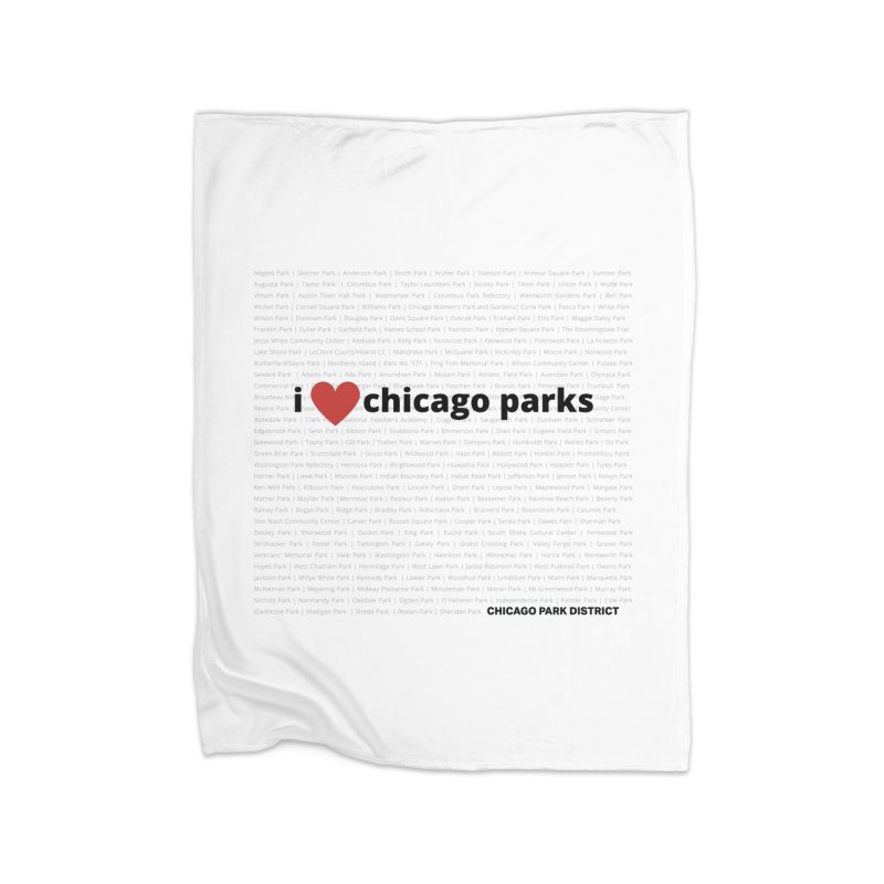 I Heart Chicago Parks Home Blanket by chicago park district's Artist Shop
