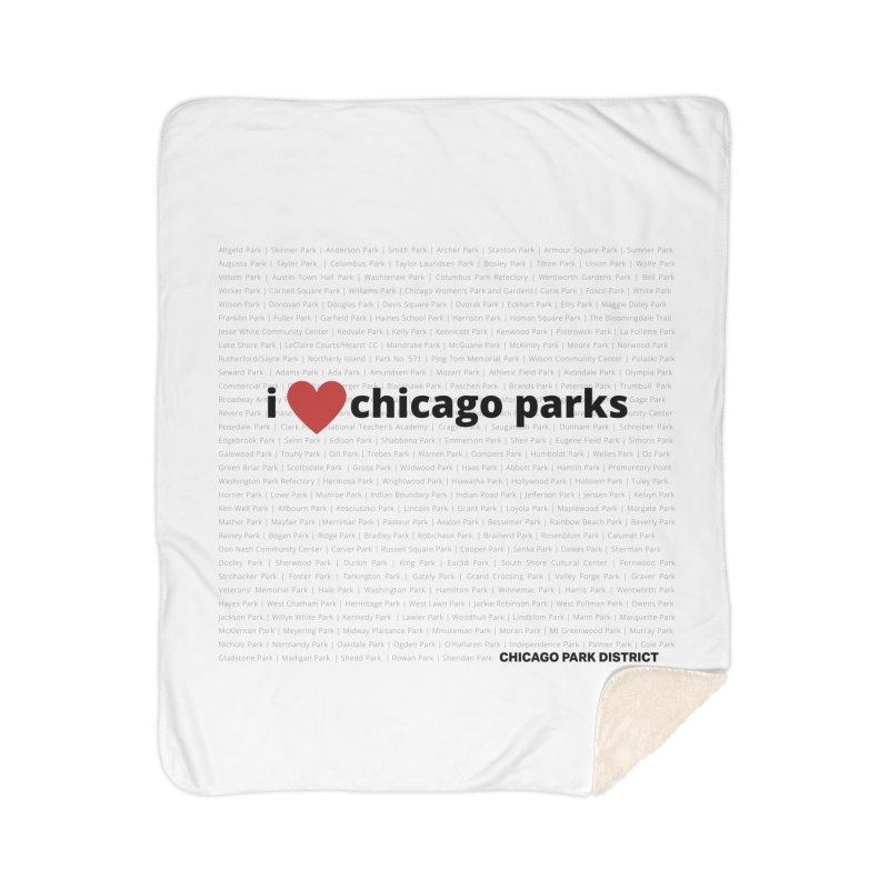 I Heart Chicago Parks Home Sherpa Blanket Blanket by chicago park district's Artist Shop