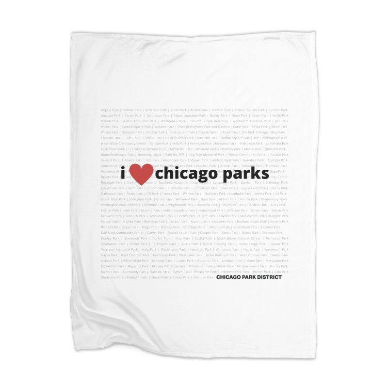 I Heart Chicago Parks Home Blanket by chicago park district's Artist Shop