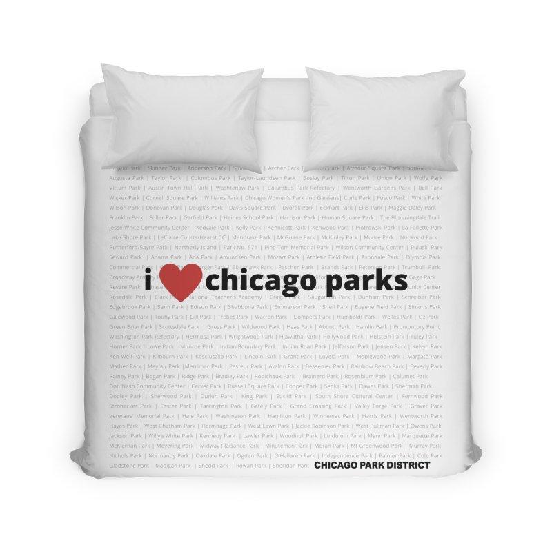 I Heart Chicago Parks Home Duvet by chicago park district's Artist Shop
