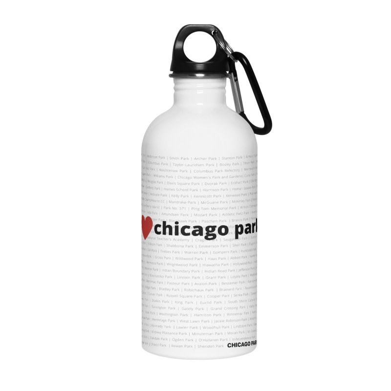 I Heart Chicago Parks Accessories Water Bottle by chicago park district's Artist Shop