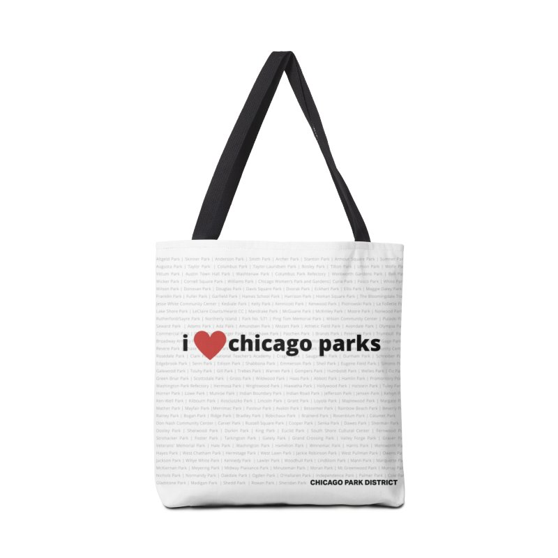 I Heart Chicago Parks Accessories Tote Bag Bag by chicago park district's Artist Shop