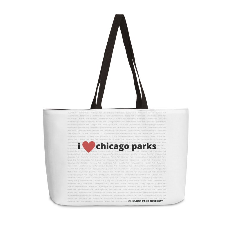 I Heart Chicago Parks Accessories Weekender Bag Bag by chicago park district's Artist Shop
