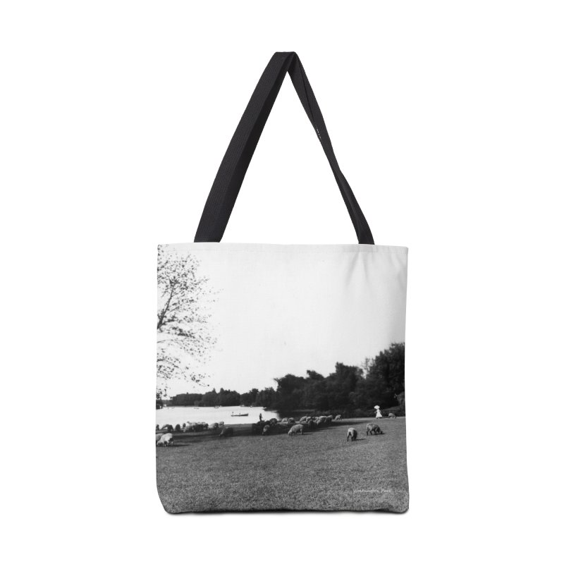 Vintage: Sheep in Washington Park 1906 Accessories Tote Bag Bag by chicago park district's Artist Shop