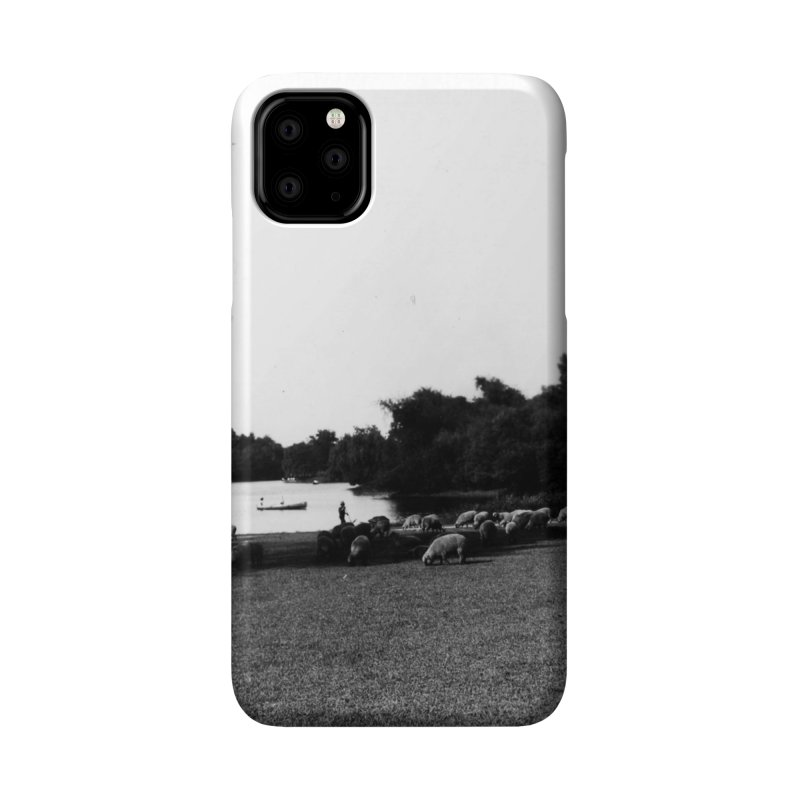 Vintage: Sheep in Washington Park 1906 Accessories Phone Case by chicago park district's Artist Shop