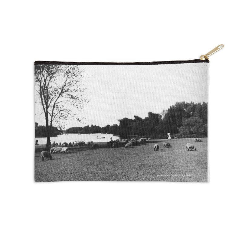 Vintage: Sheep in Washington Park 1906 Accessories Zip Pouch by chicago park district's Artist Shop