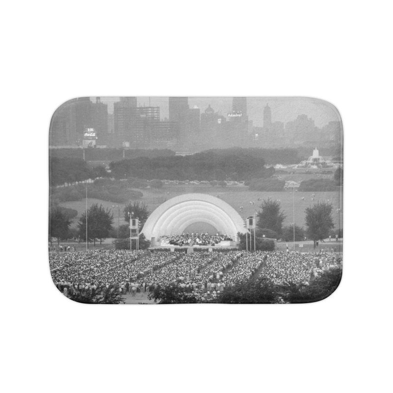 Vintage: Grant Park Concert 1954 Home Bath Mat by chicago park district's Artist Shop