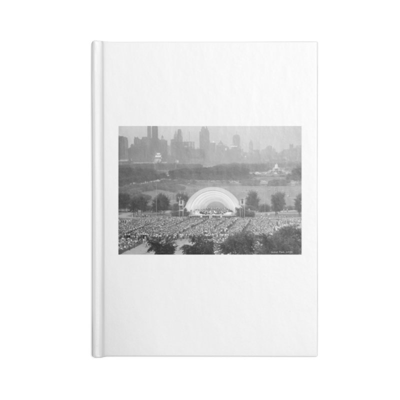 Vintage: Grant Park Concert 1954 Accessories Lined Journal Notebook by chicago park district's Artist Shop