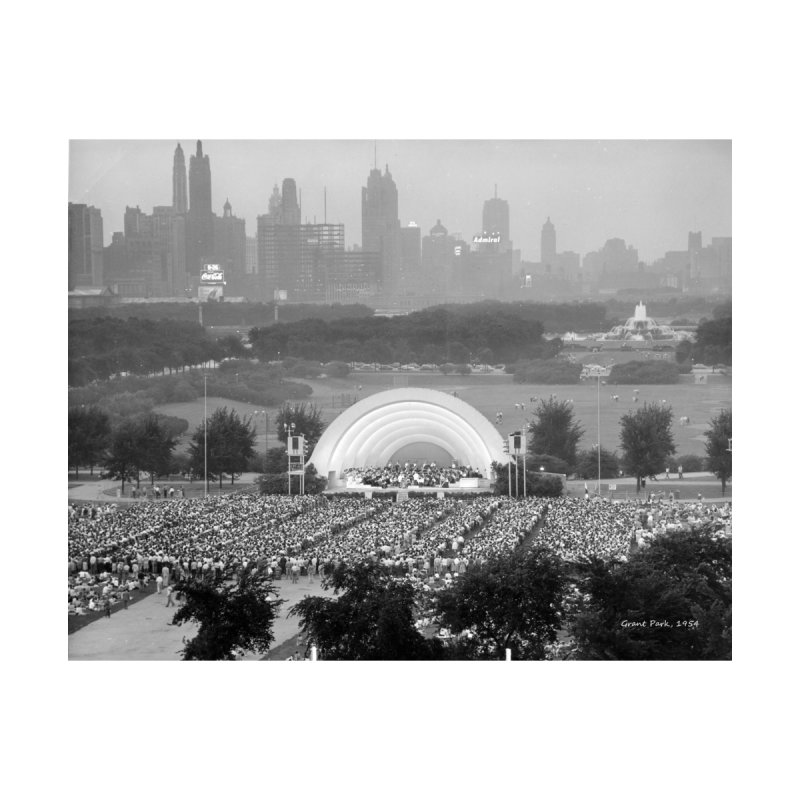 Vintage: Grant Park Concert 1954 Home Shower Curtain by chicago park district's Artist Shop