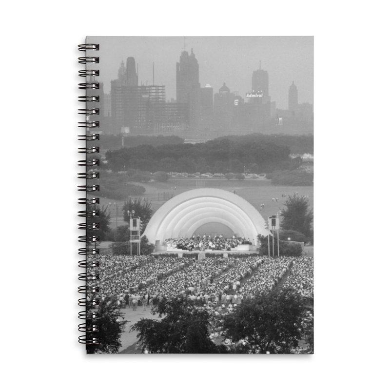 Vintage: Grant Park Concert 1954 Accessories Lined Spiral Notebook by chicago park district's Artist Shop
