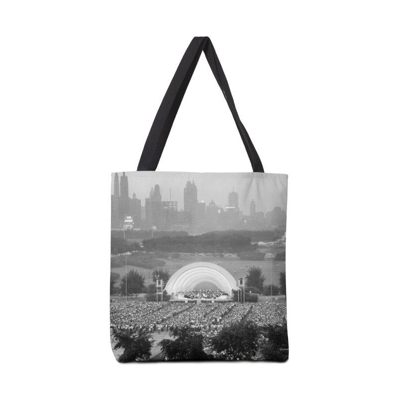 Vintage: Grant Park Concert 1954 Accessories Tote Bag Bag by chicago park district's Artist Shop