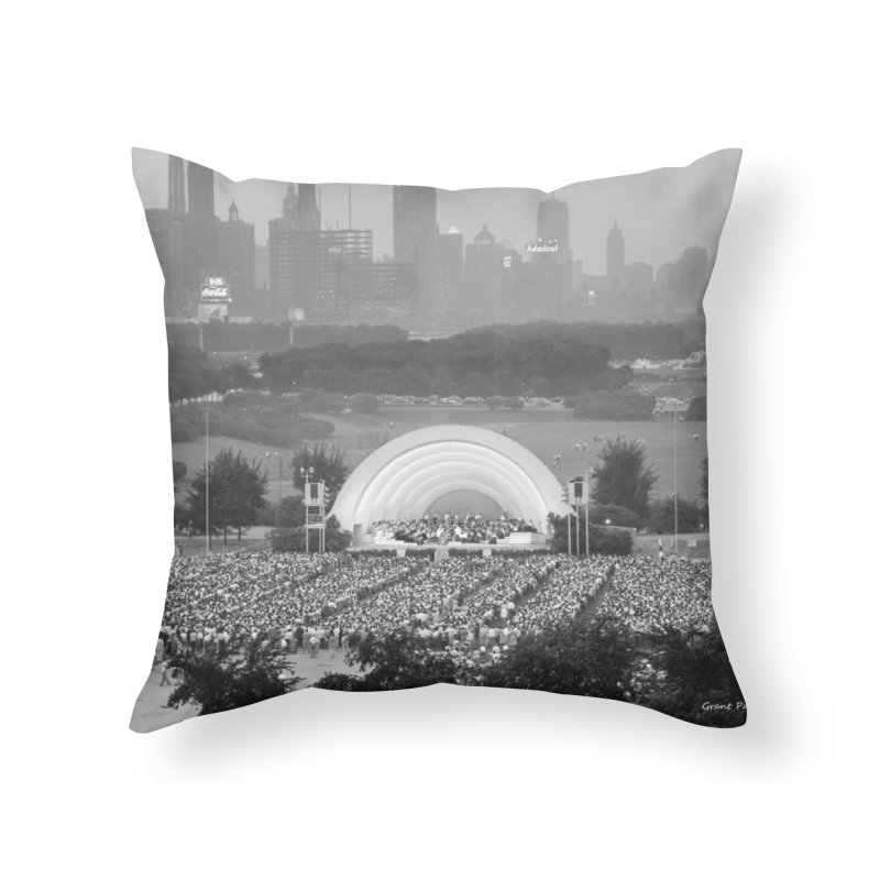 Vintage: Grant Park Concert 1954 Home Throw Pillow by chicago park district's Artist Shop