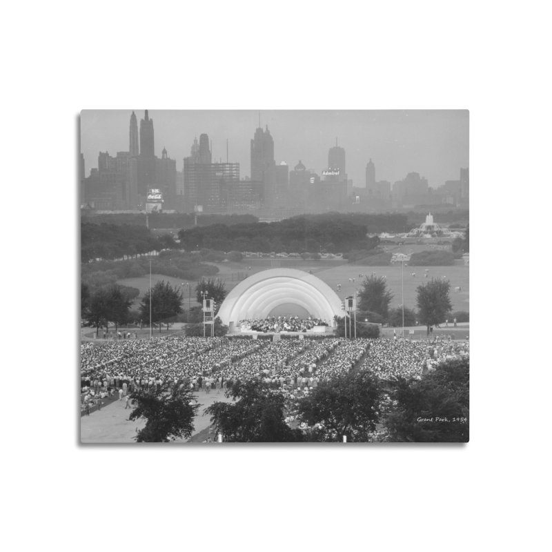 Vintage: Grant Park Concert 1954 Home Mounted Aluminum Print by chicago park district's Artist Shop
