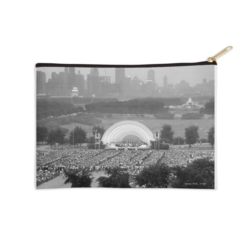 Vintage: Grant Park Concert 1954 Accessories Zip Pouch by chicago park district's Artist Shop