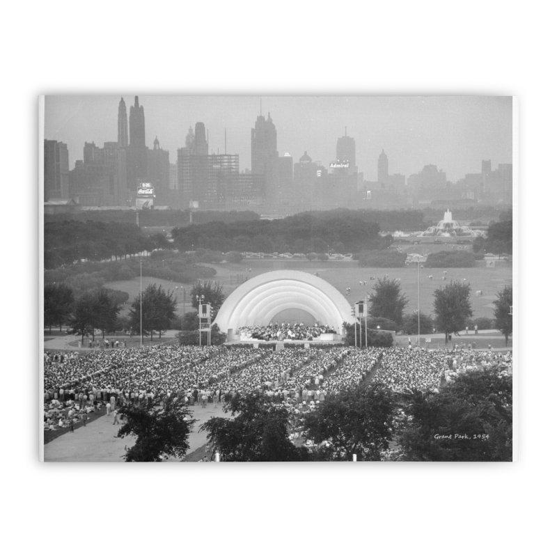 Vintage: Grant Park Concert 1954 Home Stretched Canvas by chicago park district's Artist Shop
