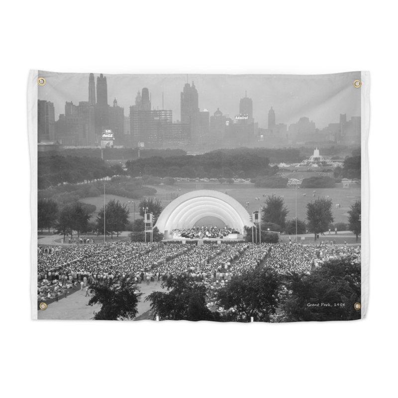 Vintage: Grant Park Concert 1954 Home Tapestry by chicago park district's Artist Shop