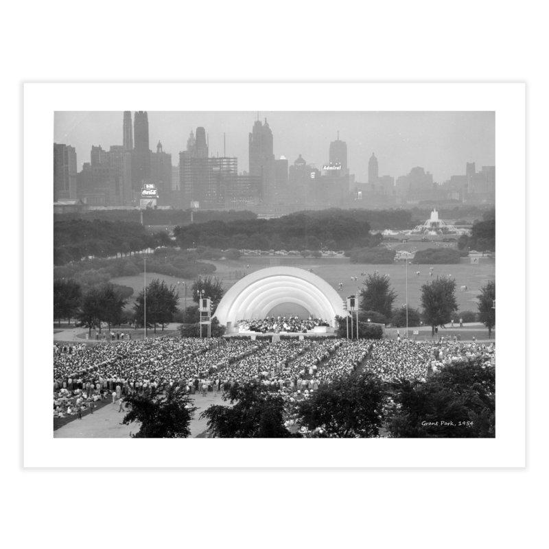 Vintage: Grant Park Concert 1954 Home Fine Art Print by chicago park district's Artist Shop