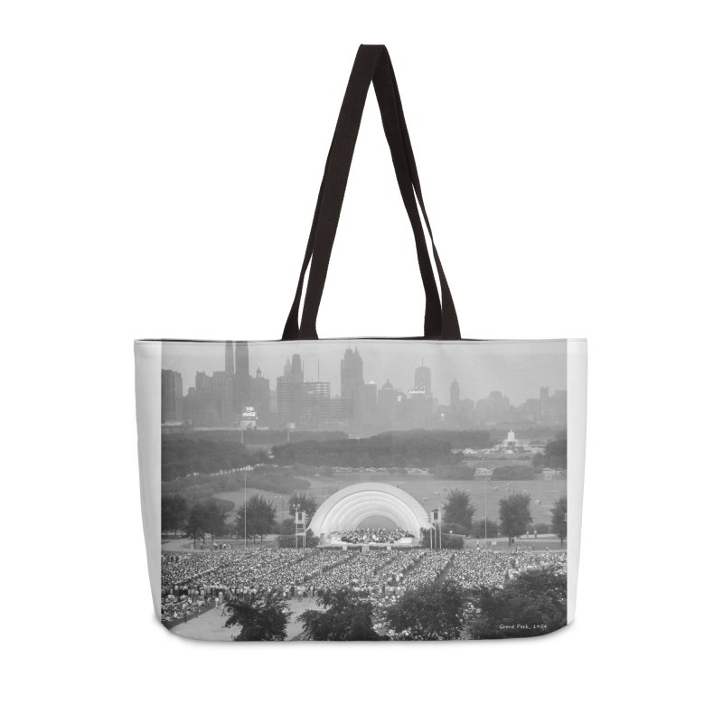 Vintage: Grant Park Concert 1954 Accessories Weekender Bag Bag by chicago park district's Artist Shop