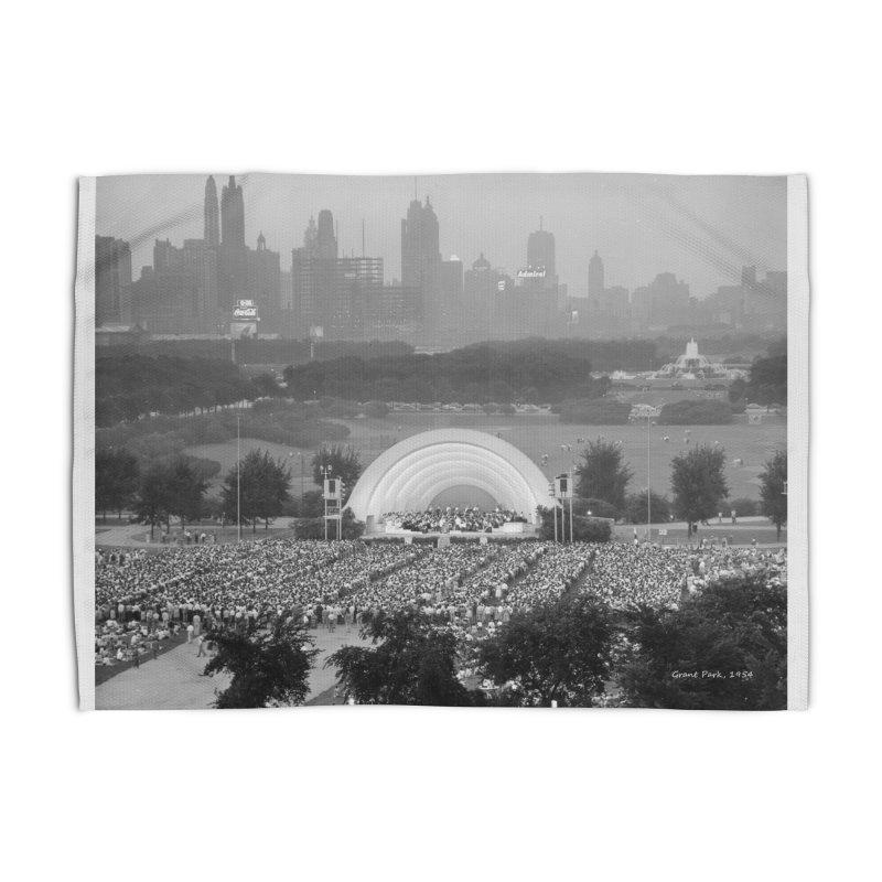 Vintage: Grant Park Concert 1954 Home Rug by chicago park district's Artist Shop
