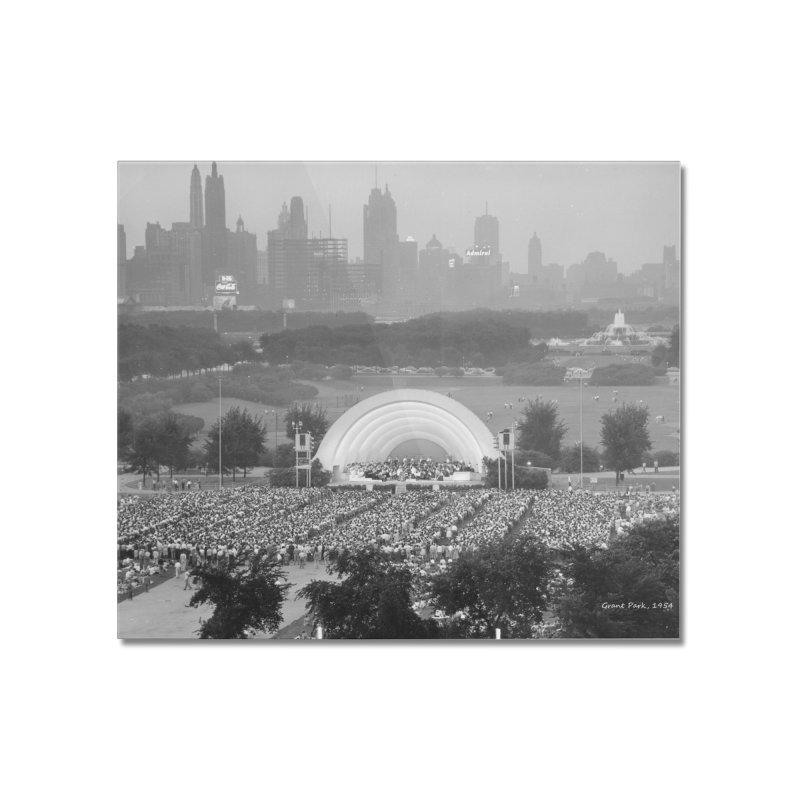 Vintage: Grant Park Concert 1954 Home Mounted Acrylic Print by chicago park district's Artist Shop