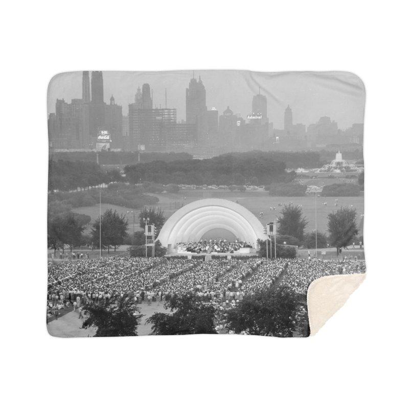 Vintage: Grant Park Concert 1954 Home Sherpa Blanket Blanket by chicago park district's Artist Shop