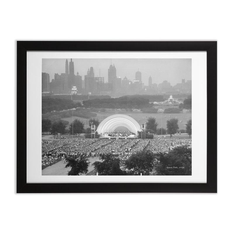 Vintage: Grant Park Concert 1954 Home Framed Fine Art Print by chicago park district's Artist Shop