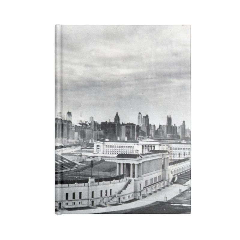Vintage: Soldier Field circa 1930 Accessories Blank Journal Notebook by chicago park district's Artist Shop