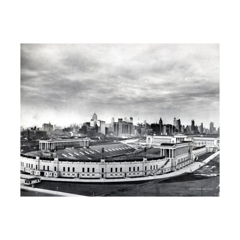 Vintage: Soldier Field circa 1930 Accessories Greeting Card by chicago park district's Artist Shop