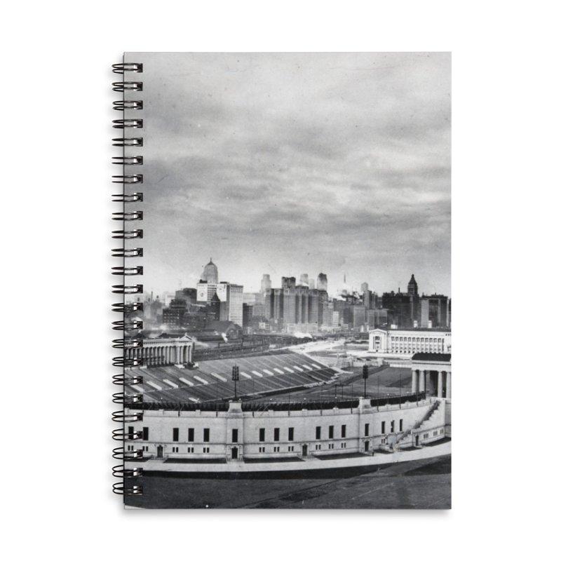 Vintage: Soldier Field circa 1930 Accessories Lined Spiral Notebook by chicago park district's Artist Shop