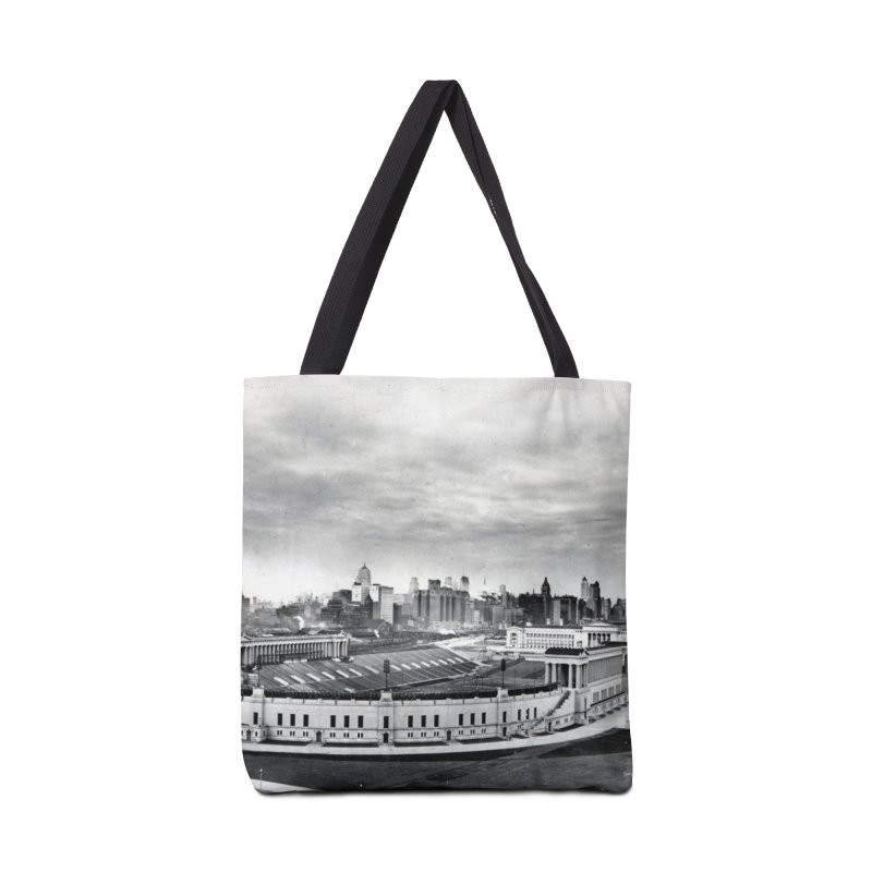 Vintage: Soldier Field circa 1930 Accessories Tote Bag Bag by chicago park district's Artist Shop