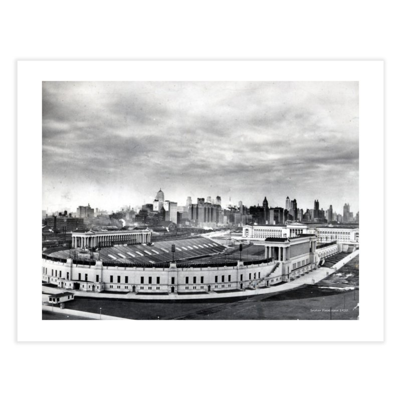 Vintage: Soldier Field circa 1930 Home Fine Art Print by chicago park district's Artist Shop