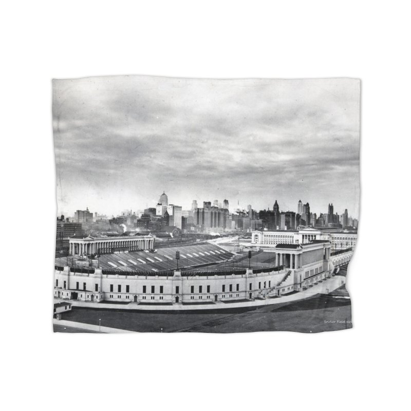 Vintage: Soldier Field circa 1930 Home Blanket by chicago park district's Artist Shop