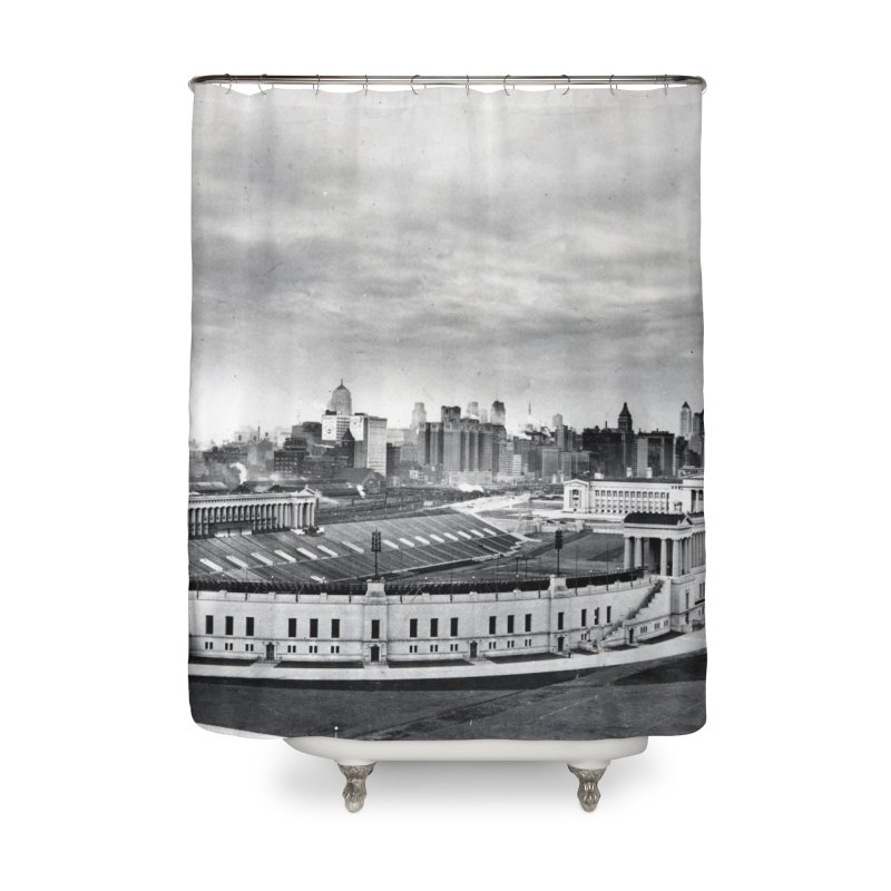 Vintage: Soldier Field circa 1930 Home Shower Curtain by chicago park district's Artist Shop
