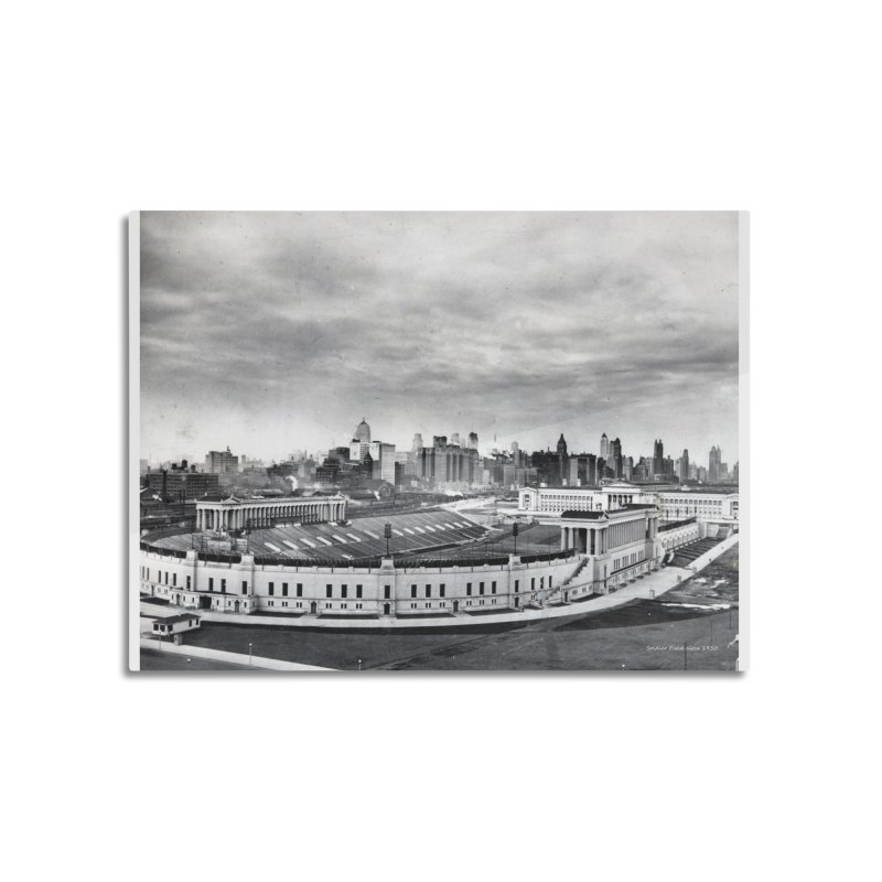 Vintage: Soldier Field circa 1930 Home Mounted Aluminum Print by chicago park district's Artist Shop
