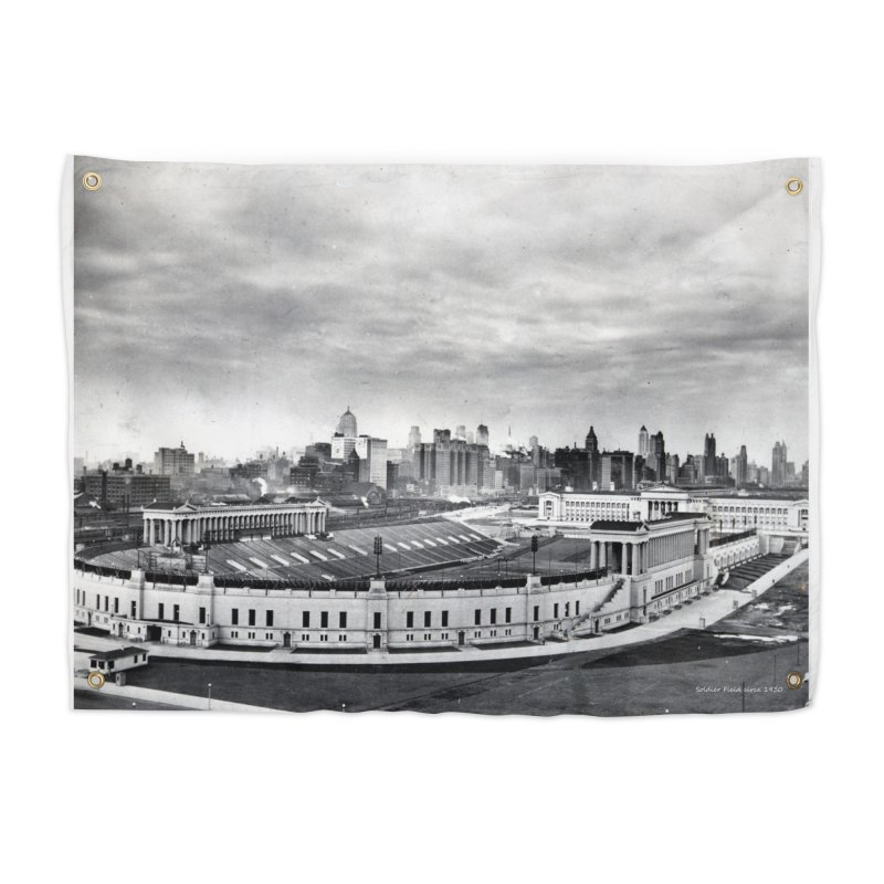 Vintage: Soldier Field circa 1930 Home Tapestry by chicago park district's Artist Shop