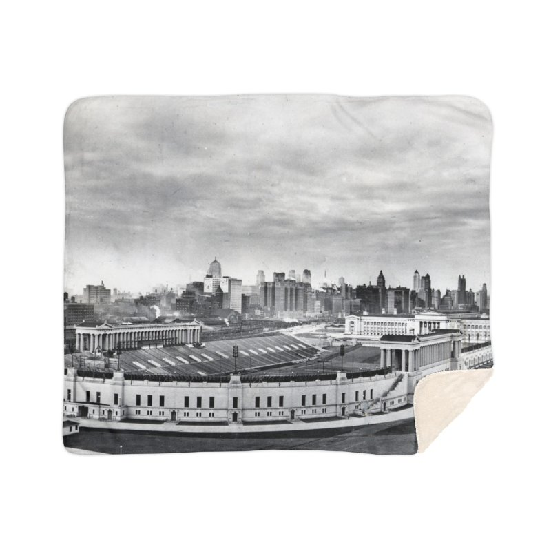 Vintage: Soldier Field circa 1930 Home Sherpa Blanket Blanket by chicago park district's Artist Shop
