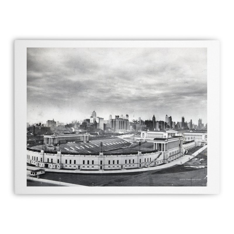 Vintage: Soldier Field circa 1930 Home Stretched Canvas by chicago park district's Artist Shop