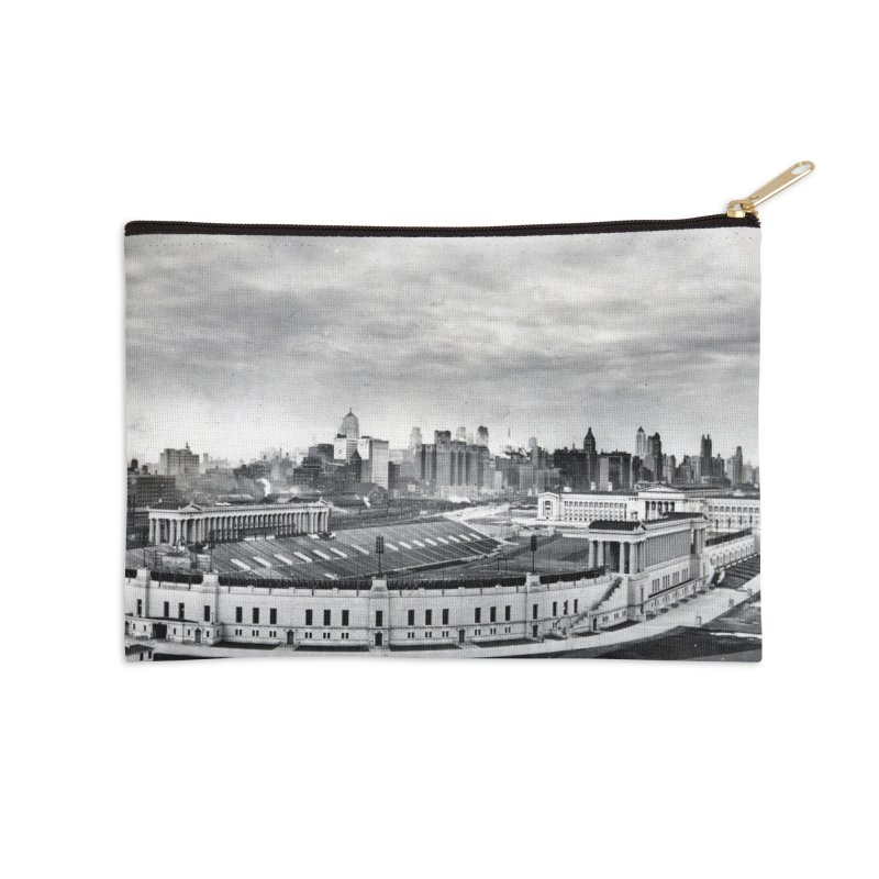 Vintage: Soldier Field circa 1930 Accessories Zip Pouch by chicago park district's Artist Shop