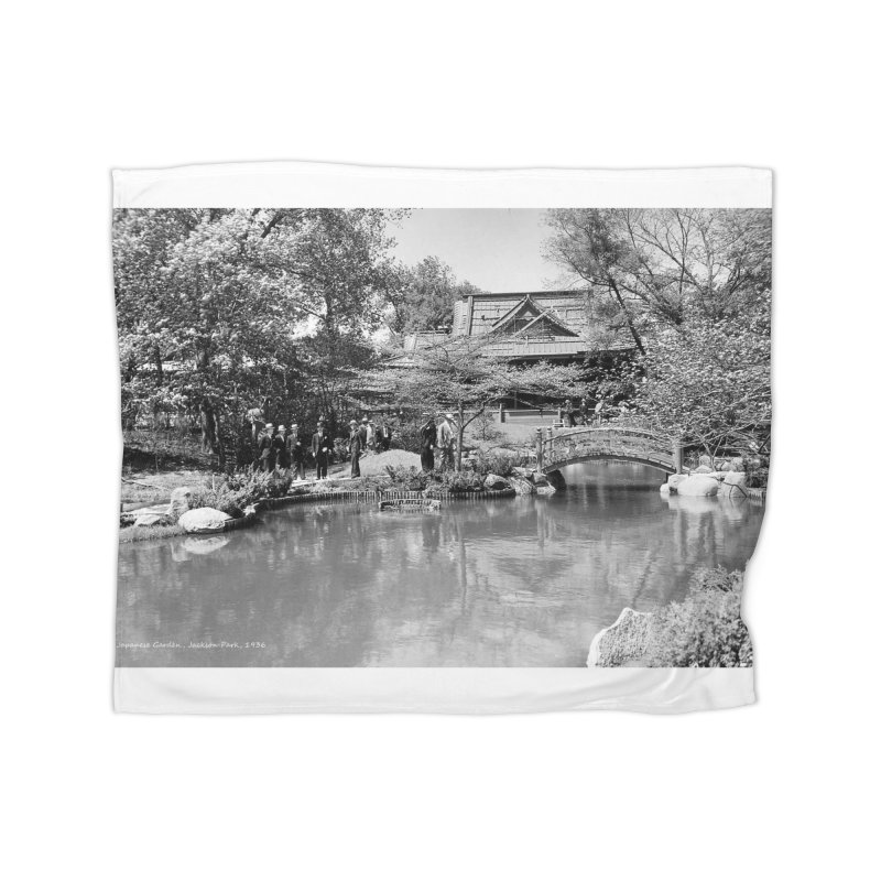 Vintage: Japanese Garden 1936 Home Blanket by chicago park district's Artist Shop