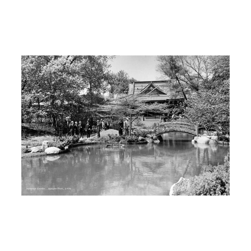Vintage: Japanese Garden 1936 Accessories Greeting Card by chicago park district's Artist Shop