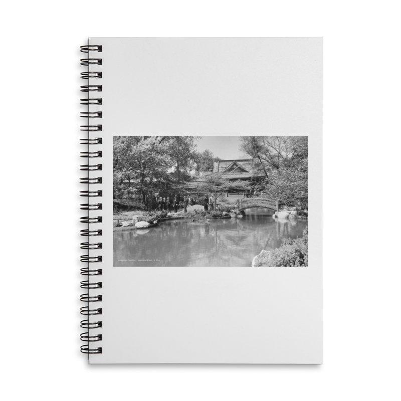 Vintage: Japanese Garden 1936 Accessories Lined Spiral Notebook by chicago park district's Artist Shop